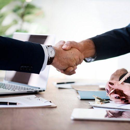 iso 37001 certified partners handshake