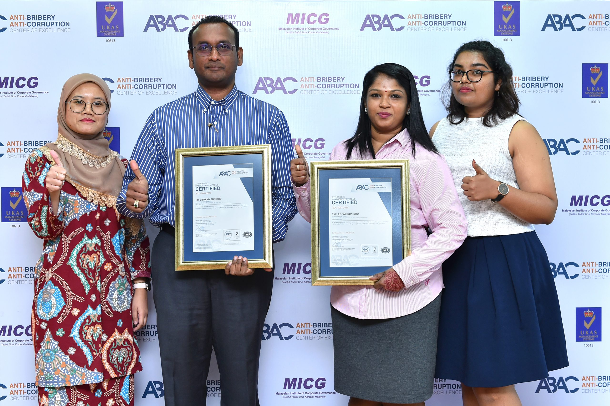 Mudajaya Group Berhad awarded with ISO 37001 ABMS certification with ABAC
